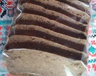 Черный ржаной хлеб в вакуумной упаковке, без дрожжевой 300 гр.